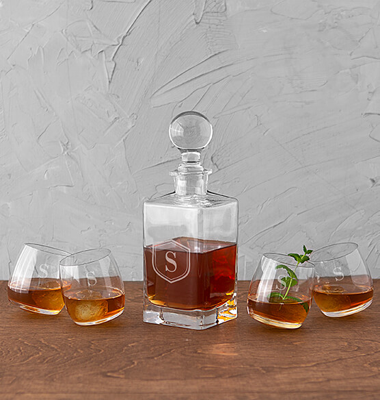 Personalized Tipsy Whiskey Decanter Set - View 4