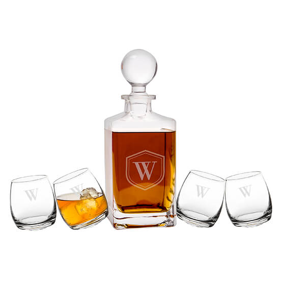 Personalized Tipsy Whiskey Decanter Set - View 5