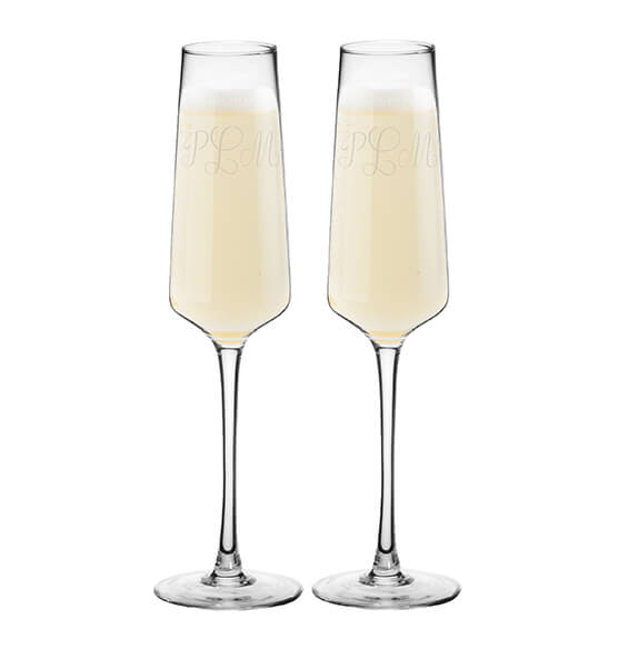 Personalized Champagne Estate Glasses Set of 2, 9.5 oz. - View 4