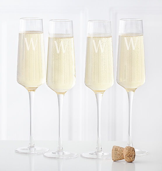Personalized Champagne Estate Glasses Set of 4, 9.5 oz. - View 2
