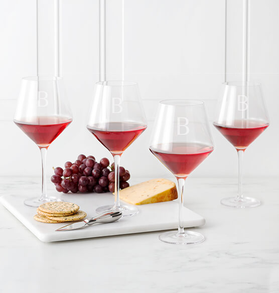 Personalized Red Wine Estate Glasses Set of 4, 23 oz. - View 2