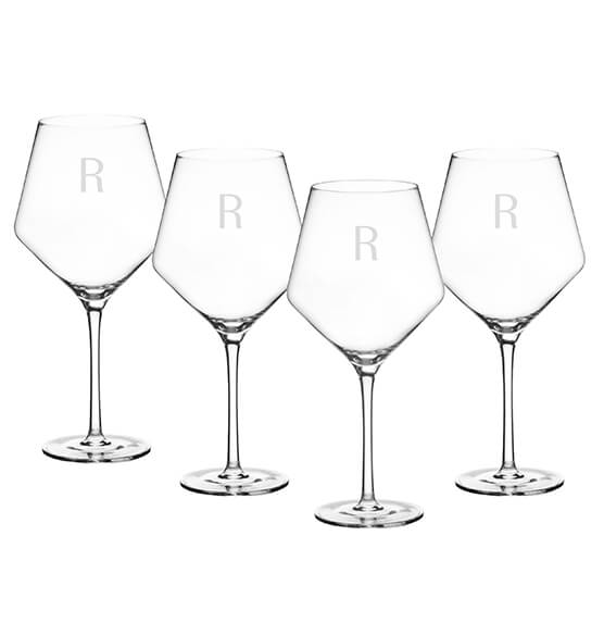 Personalized Red Wine Estate Glasses Set of 4, 23 oz. - View 5