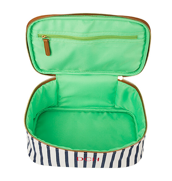 Personalized Striped Cosmetic Case - View 5