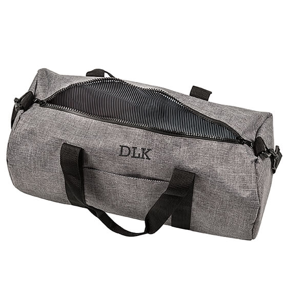 Personalized Grey Duffle Bag - View 3