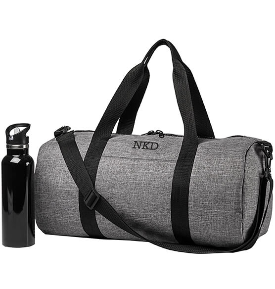Personalized Grey Duffle Bag - View 4