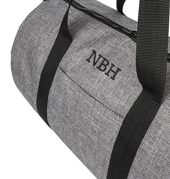 Personalized Grey Duffle Bag - View 5