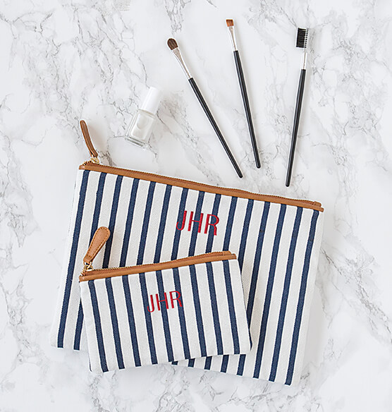 Personalized Striped Clutch Set - View 5