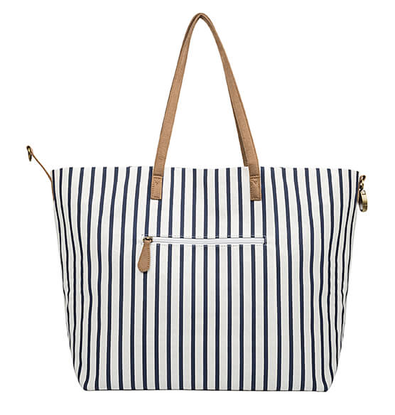 Personalized Striped Overnight Tote - View 4