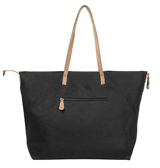 Personalized Black Overnight Tote - View 4