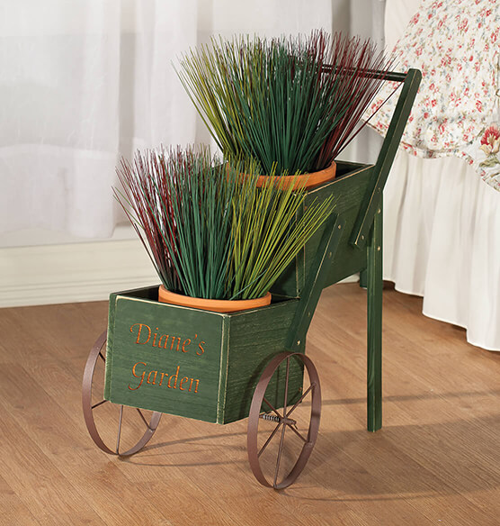Personalized 2-Tier Garden Trolley - View 2