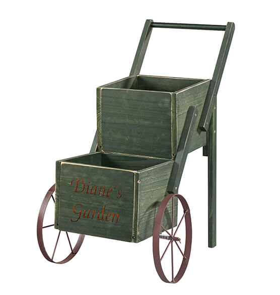 Personalized 2-Tier Garden Trolley - View 3
