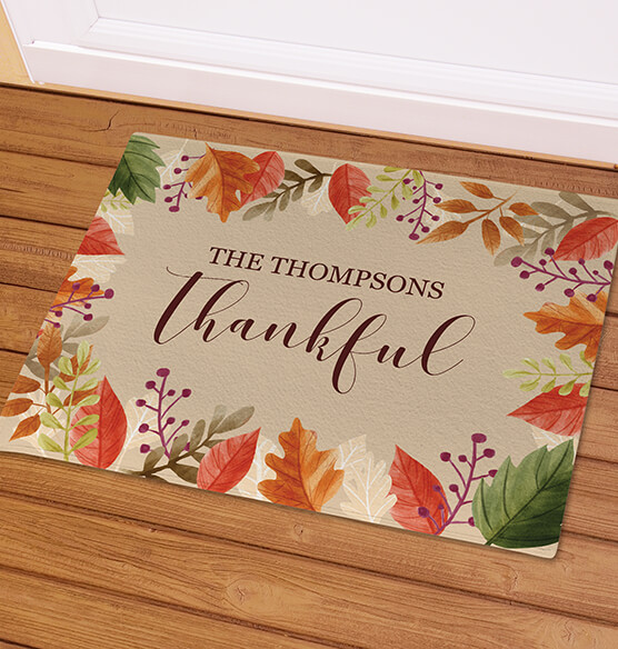 Personalized Thankful Doormat - View 2