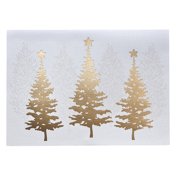 Golden December Christmas Card, Set of 18 - View 2