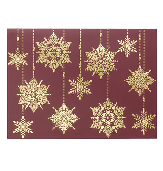 Frosted Droplet Christmas Card, Set of 18 - View 2
