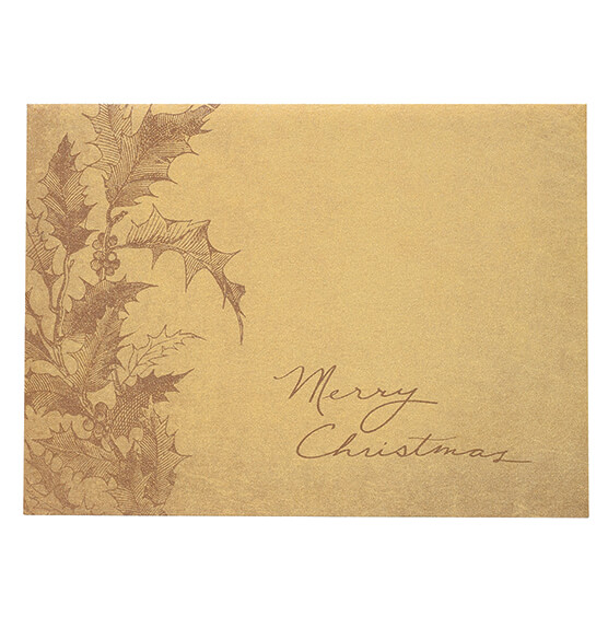 Boughs of Holly Christmas Card, Set of 18 - View 2
