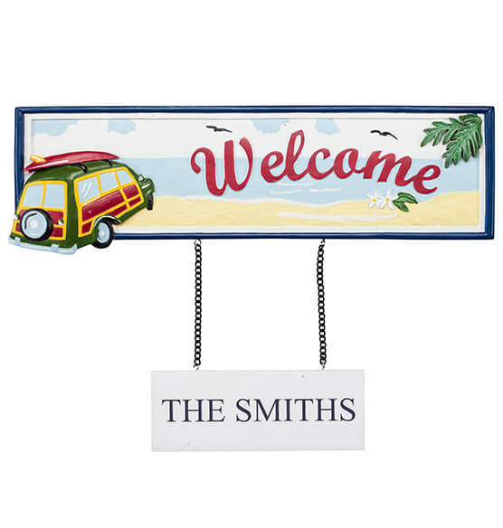 Personalized Welcome Beach Sign - View 2
