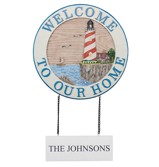 Personalized Welcome Lighthouse Sign - View 2