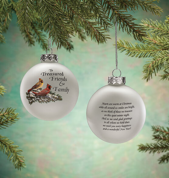 Treasured Friends Glass Ball Ornament - View 3