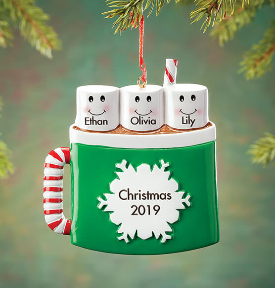 Personalized Cocoa Mug Family Ornament - View 2