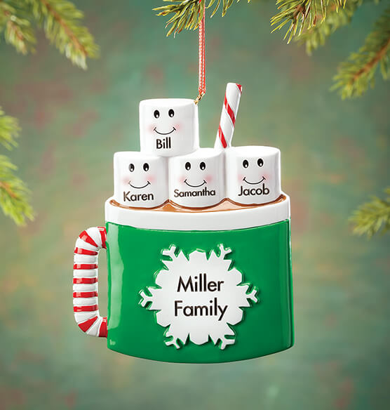 Personalized Cocoa Mug Family Ornament - View 3