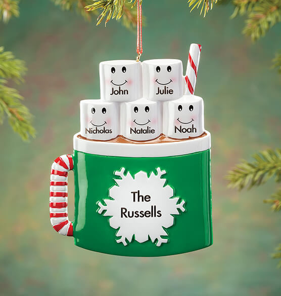 Personalized Cocoa Mug Family Ornament - View 4
