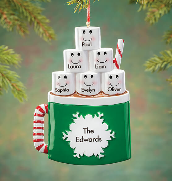 Personalized Cocoa Mug Family Ornament - View 5