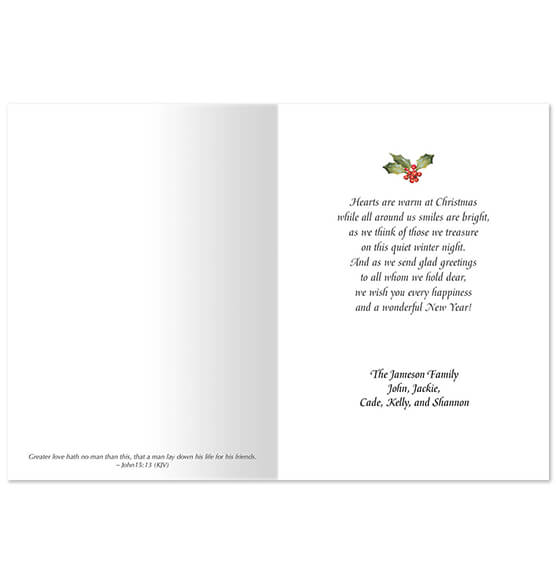 Personalized Faith, Family, Friends Christmas Card Set of 20 - View 2