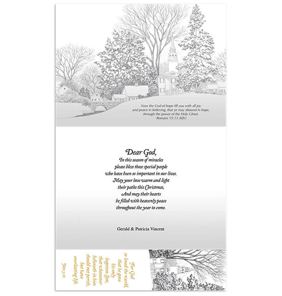 Personalized Prayer for Friends w/Bookmark Card Set/20 - View 2