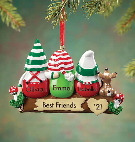 Personalized Gnome Family Ornament - View 2