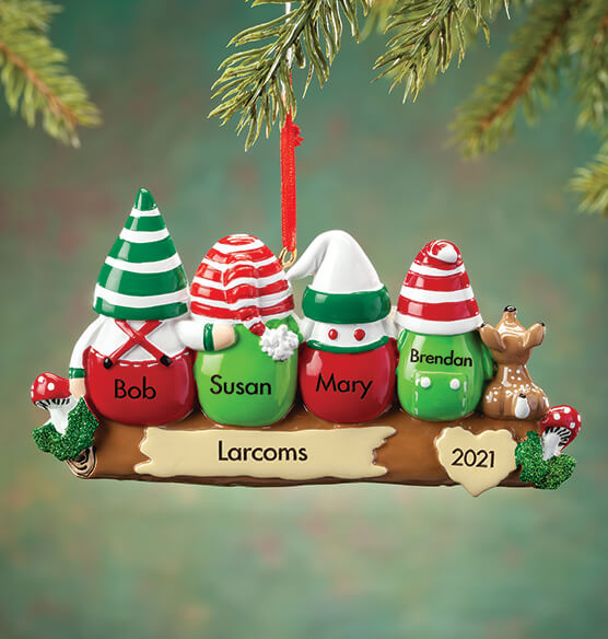 Personalized Gnome Family Ornament - View 3