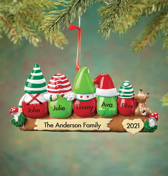 Personalized Gnome Family Ornament - View 4