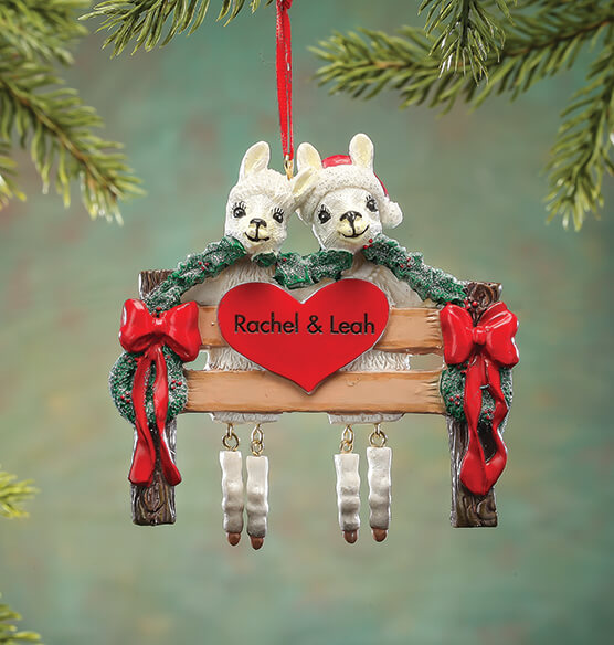 Personalized Llama Family Ornament - View 3