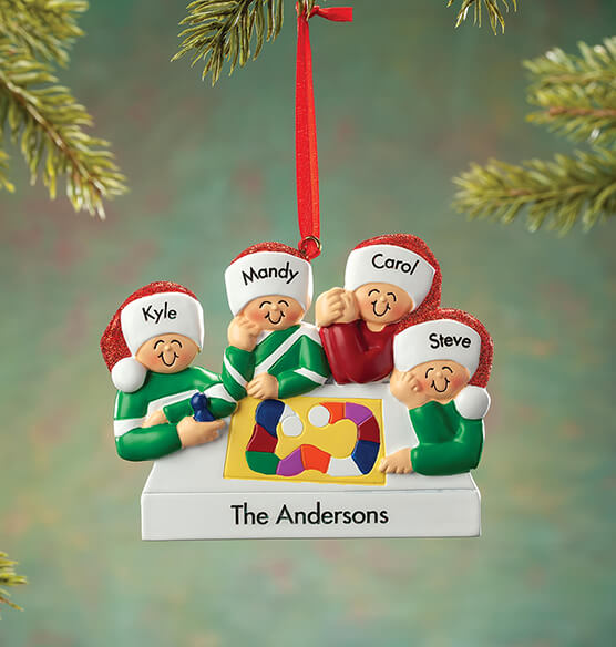 Personalized Game Board Family Ornament - View 4