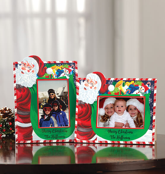 Personalized Santa's Christmas Bag of Presents Frame - View 2