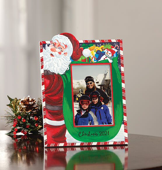 Personalized Santa's Christmas Bag of Presents Frame - View 3