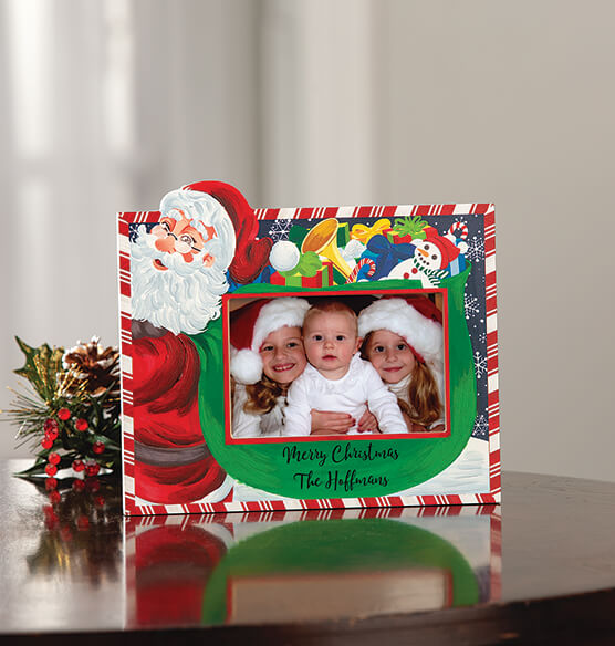 Personalized Santa's Christmas Bag of Presents Frame - View 4