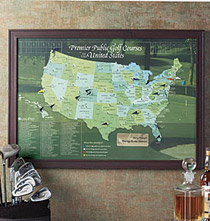 Golf Destinations Map