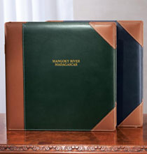Platinum Leather Albums - Ivy League Extra Capacity Personalized Photo Album