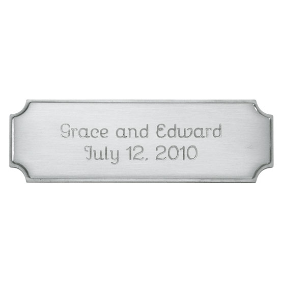 Personalized Thin Silver Plaque