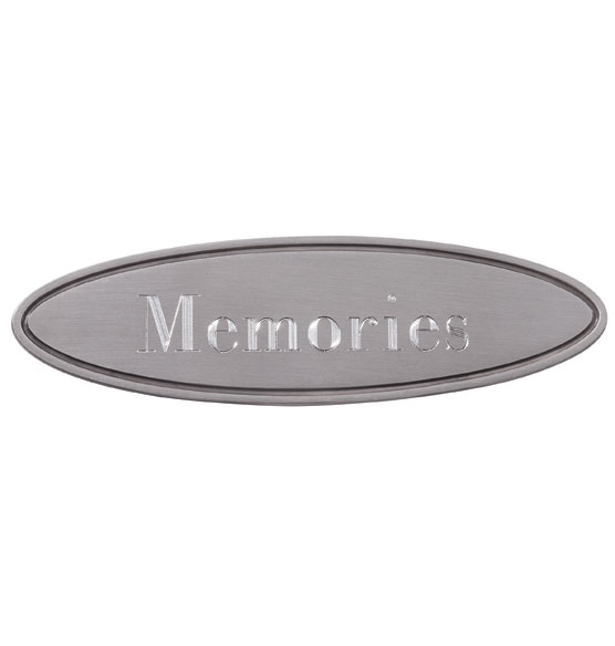 Pers Silver Oval Plaque