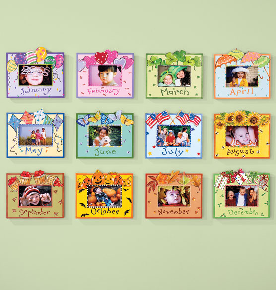 Whimsical Month Frame Handpainted Frames Picture
