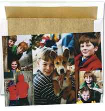 Printed Photo Card Photo Collage Insert Set of 18