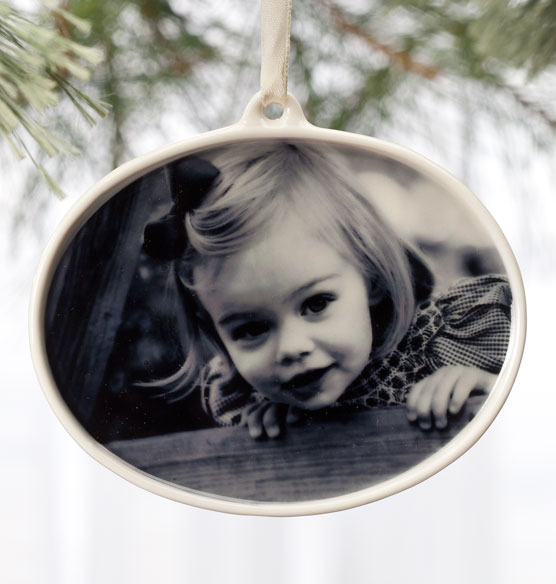 Custom porcelain photo ornament