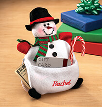 Holiday Decor - Personalized Snowman Cash Pouch
