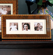 Gifts for Her - Diamante Marquetry Triple 2x2 Frame