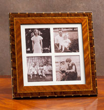 Rosa Marquetry Quad Frame 3x3