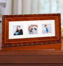 Gifts for the Italian Enthusiast - Rosa Marquetry Triple 2x2 Frame