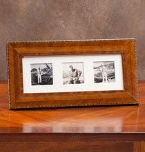 Gifts for the Italian Enthusiast - Aldo Marquetry Triple 2x2 Frame