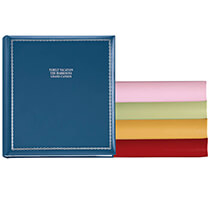 Platinum Leather Albums - Felicity Personalized Photo Album