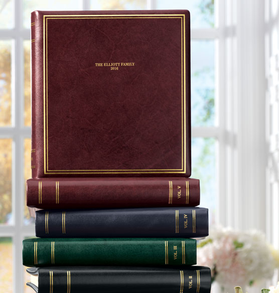 Presidential Personalized Photo Album Leather Photo Albums Exposures